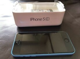 APPLE IPHONE 5c Blue 16gb EE immaculate condition with accessories and box