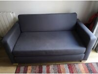 FREE DELIVERY IKEA SOLSTA GREY BLUE 2 SEATER SOFA BED GREAT CONDITION