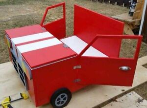 Handcrafted Wooden Car Toy Box