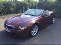 *2 OWNERS*FSH*2005 BMW 645 CI CONVERTIBLE 4.4 V8 AUTO RED