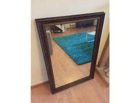Antique Walnut Burr Veneer Mirror