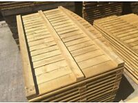 💥Excellent Quality Bow Top Feather Edge New Fence Panels • Pressure Treated Heavy Duty