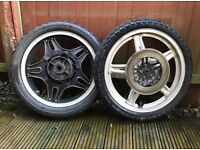 CB250/400 Honda Superdream front and rear wheels