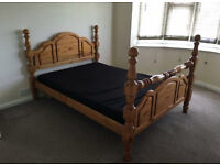 Beautiful Wooden Double Bed - Enderby - Collection Preferable - STA21