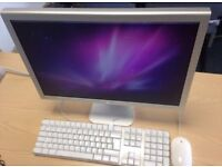 Apple Cinema Display with Apple mouse and keyboard