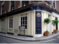 Experienced Bar Manager required for Traditional London City Pub