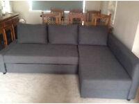 Ikea Grey Friheten Corner Sofa Bed With Storage