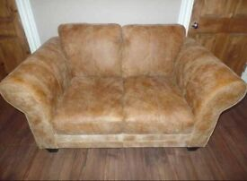 DFS 2 seater sofa. Savoy range in ranch. 100% leather. Distressed look. FEW MONTHS OLD. Couch