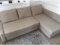 IKEA FRIHETEN BEIGE SOFA BED GREAT CONDITION CAN DELIVER