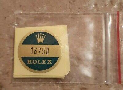 Usado, 🛑H) 16758 Rolex vintage GMT master Sticker Aufkleber Etiqueta Adhesivo adesivo comprar usado  Enviando para Brazil