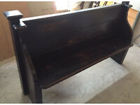 Wooden antique pew