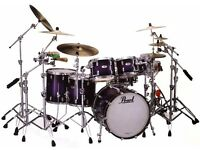 DRUM TUTOR - Learn drums on a pro Pearl Reference kit with Sabian cymbals.