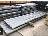 Galvanised roof sheets box profile