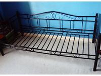 Black Single Metal Day Bed Frame