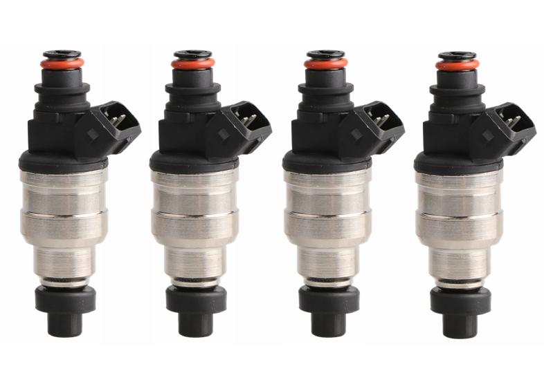 4 Pcs Set  Fuel Injectors for EVO 3 4 5 6 7 8 9 RX-7 4G63T High Impedance New