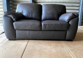 New Genuine Leather 2 Seater Sofa - Dark Brown.