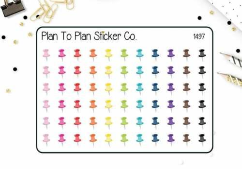 1497~~Thumbtacks Reminder Planner Stickers.