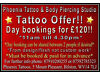 TATTOO SPECIAL OFFER! DAY BOOKINGS ONLY £120!! Bilston