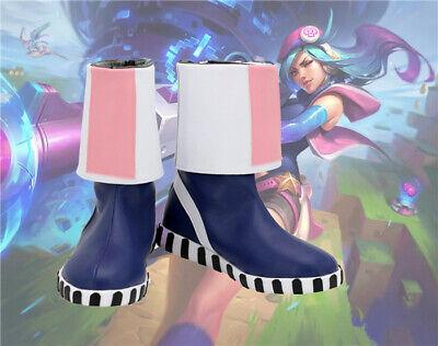 League of Legends Arcade Caitlyn Cosplay Costume Kostüme Schuhe Shoes boots - Caitlyn Cosplay Kostüm