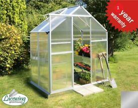 Aluminium Frame Greenhouse with Base (1x Lacewing™ 6ft x 4ft) LacewingTM