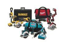 Power tools wanted makita dewalt bosch paslode hilti