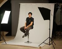 Photostudio backdrops and stand kit for rent