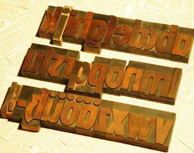A-z Alphabet 2.83 Letterpress Wooden Printing Blocks Wood Type Vintage Printer