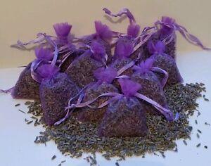 12 Lavender Bags/Wardrobe sachet/Cupboard/Drawer/Air Freshener/Moth Repel/Sleep