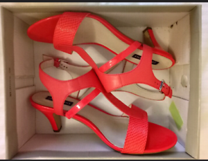 Coral heels - size 10 (price reduced $10)