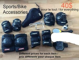 Sports/bike accessories - Accessoires de sport/bicyclette