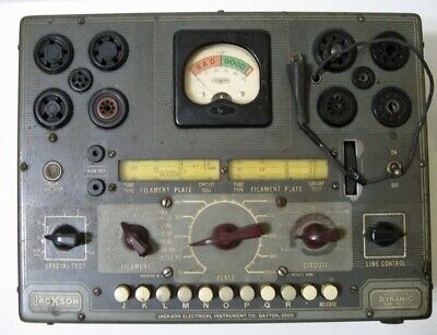 Jackson 636 Dynamic Tube Tester - Powers Up - Quality Of Operation Unknown