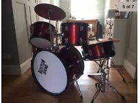 Boston Sound Kids Drum Kit in used condition inc Stool & Sticks