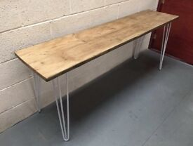 Console table/hallway/Home/hairpin legs/retro/Industrial/timber/Wood