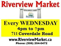 RIVERVIEW MARKET is OPEN : every WEDNESDAY 4pm-7pm