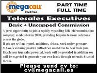 Telesales executive. Basic + Uncapped Commission. Based in Málaga (Spain)