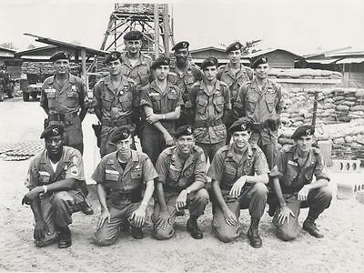 Vietnam War U.S. Army Green Berets 5th Special Forces Group 8.5x11 Rare Photo