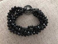 Ted Baker Black Crystal Beads Bracelet