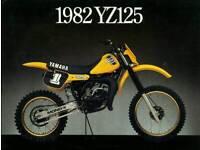 Motocross YZ 125 J 1982 wanted