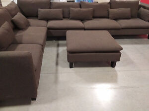Beautiful Modern Sectional in EUC-Brown/Grey colour