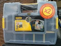 BRAND NEW FACTORY SEALED TWO STANLEY SORTMASTER JUNIOR ORGANIZER