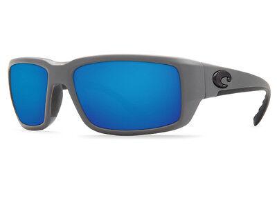NEW Costa Del Mar FANTAIL Matte Gray & 580 Blue Mirror Plastic 580P