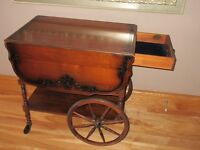 Gibbard Solid Walnut Tea Wagon