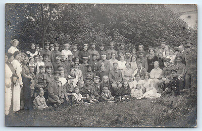 Antique WW1 GERMAN Real Photo RPPC Postcard WOUNDED SOLDIERS Military Hospital