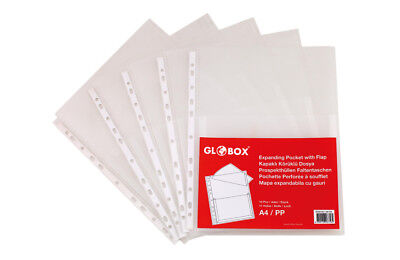 Expanding Heavy Duty Punched Pocket with Flap For Over 200 Sheets - Expanding Punched Pocket