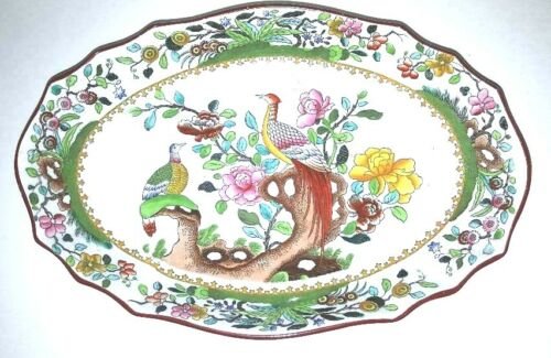 Large  Antique Copeland Spode Serving Dish; Waring and Gillow; London; Pheasants