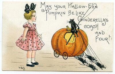 HBG Halloween Rats Driving Cinderella's Pumpkin Coach  - Cinderella Halloween Pumpkin