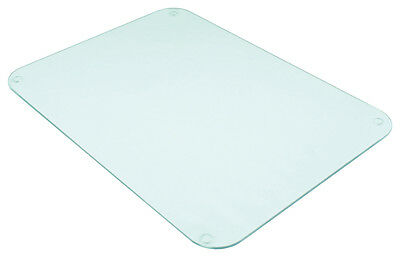 Tuftop Clear Smooth Worktop Saver 40x30cm Protector Chopping Board Trivet Glass