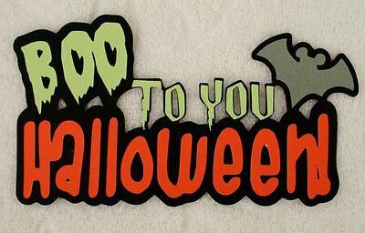 DISNEY Boo to You Halloween Die Cut Title Paper Piece for Scrapbook Page SSFFDeb - Boo For You Halloween