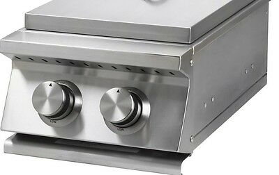 STAINLESS STEEL BBQ ISLAND / OUTDOOR KITCHEN DOUBLE SIDE BURNER NG-BLOW OUT SALE