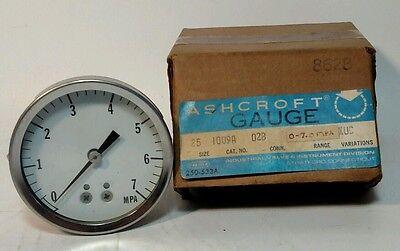 Ashcroft Pressure Gauge Dial Indicator 0-7 Mpa Nos
